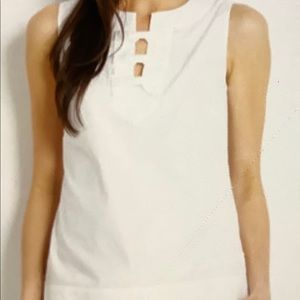 Vineyard Vines Bow Sleeveless Tunic Top